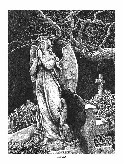 'CHRISTABEL' OPEN EDITION GOTHIC PRINT