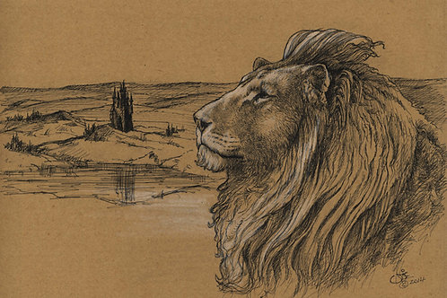 Aslan Original Sketch