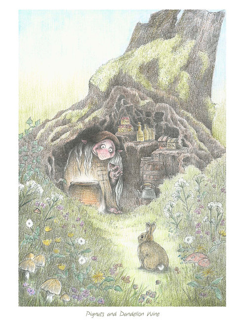 'Pignuts and Dandelion Wine' Open Edition Print