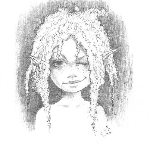 Here's Looking At You Kid Original Sketch