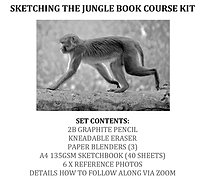 Zoom Sketching The Jungle Book Course Kit