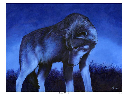 'BLUE MOON' LIMITED EDITION WOLF PRINT