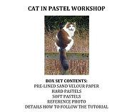 Zoom Live - Cat in Pastel Workshop Kit