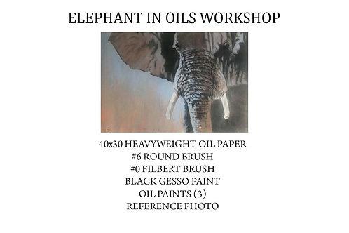 Elephant in Oils Workshop Kit (including brushes)