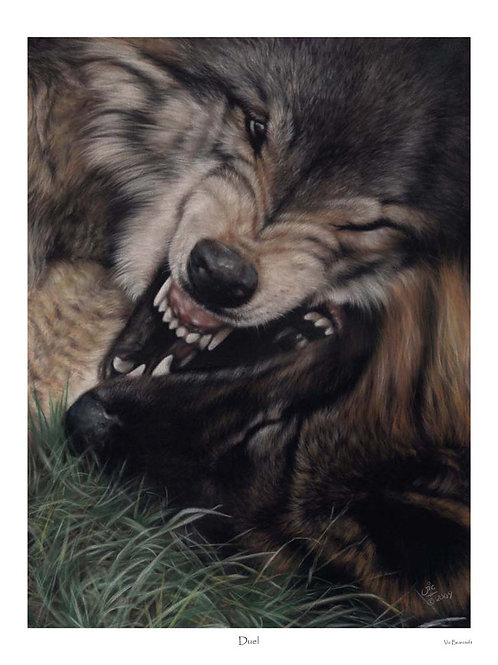 'DUEL' LIMITED EDITION WOLF PRINT