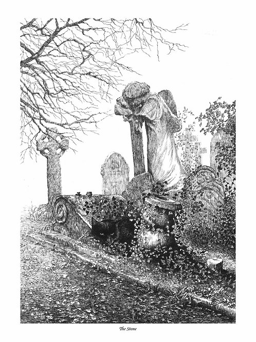 'THE STONE' OPEN EDITION GOTHIC PRINT