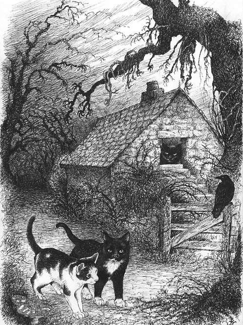 'Katzel & Kittel' Original Sketch