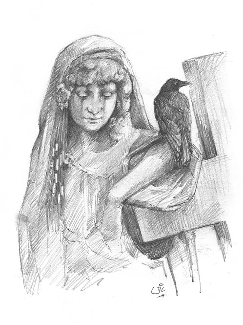 The Raven Original Sketch