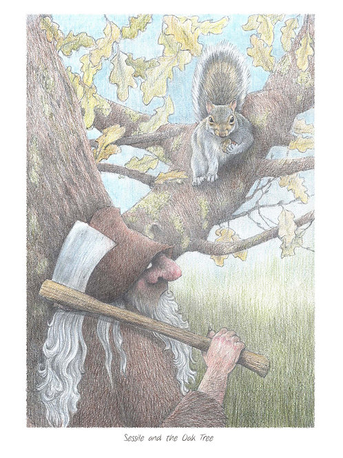 'Sessile and the Oak Tree' Open Edition Print