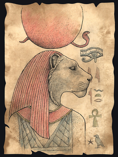 'Sekhmet' Original Sketch