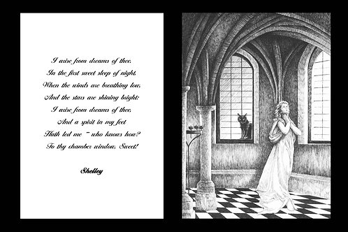 'DREAMS OF THEE' MOUNTED OPEN EDITION PRINT AND ACCOMPANYING VERSE