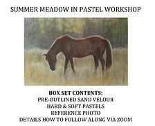 'Summer Meadow' Horse in Pastel Workshop Kit