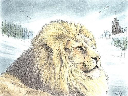 'Aslan' - Original Lion Painting