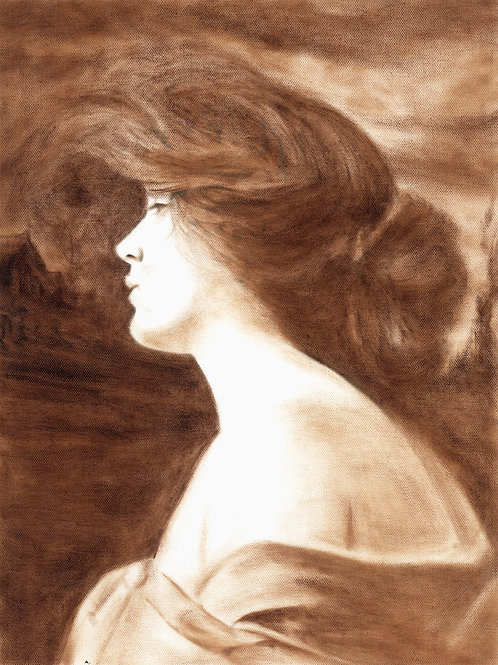 Evelyn Nesbit Original Vintage Oil Painting