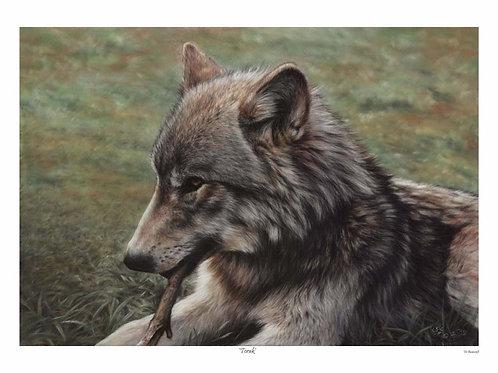 'TORAK' LIMITED EDITION WOLF PRINT