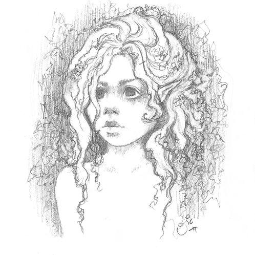 Flower Child Original Sketch