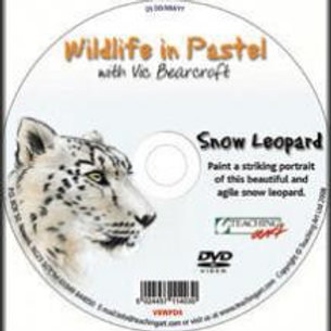 WILDLIFE IN PASTEL DVD - SNOW LEOPARD