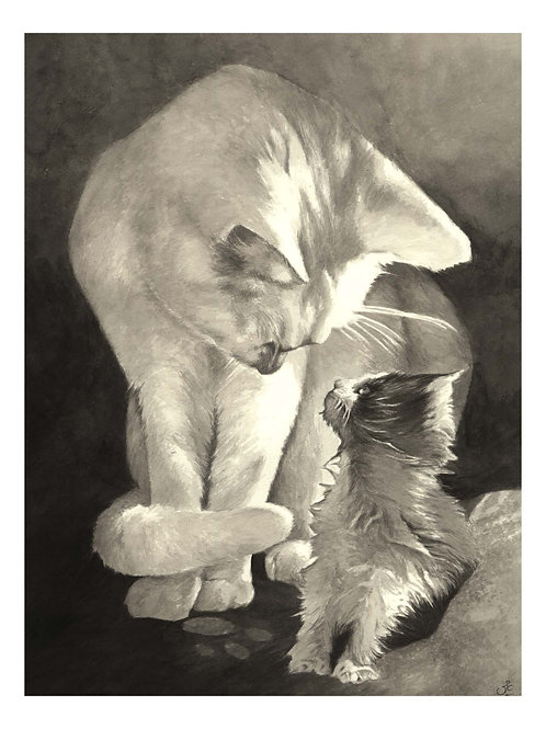 'GLADYS & RUBY ROO' OPEN EDITION CAT PRINT