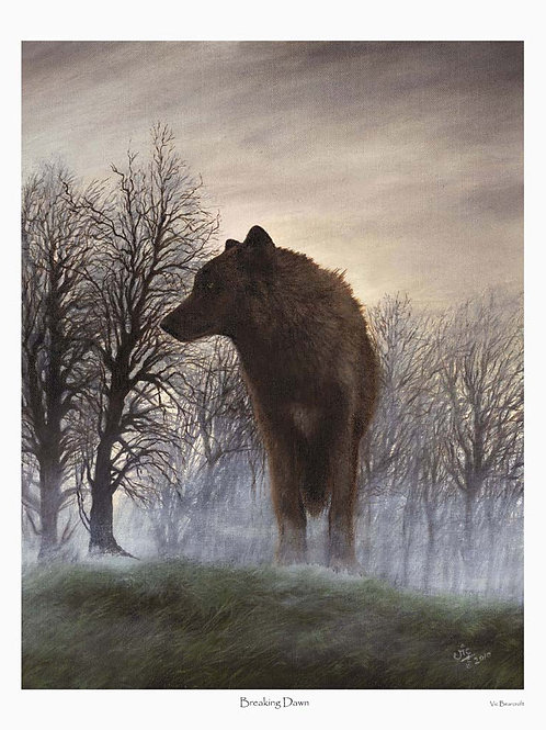 'BREAKING DAWN' LIMITED EDITION WOLF PRINT