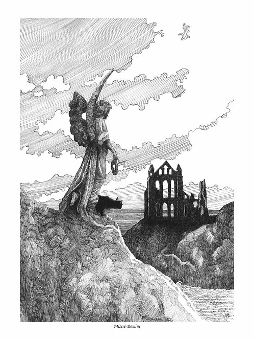 'MISERE DOMINE' OPEN EDITION GOTHIC PRINT