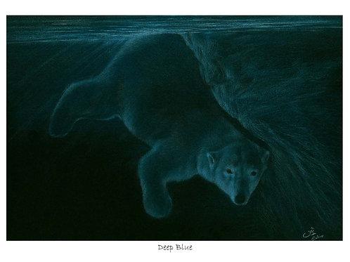 'DEEP BLUE'LIMITED EDITION POLAR BEAR PRINT