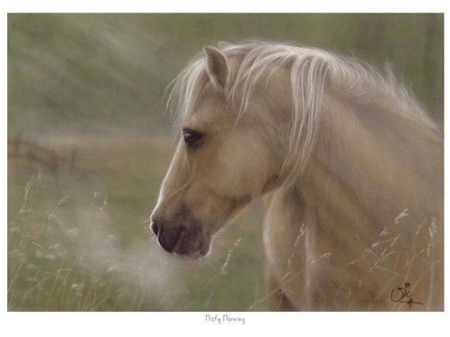 Misty Morning, Open Edition Horse Print