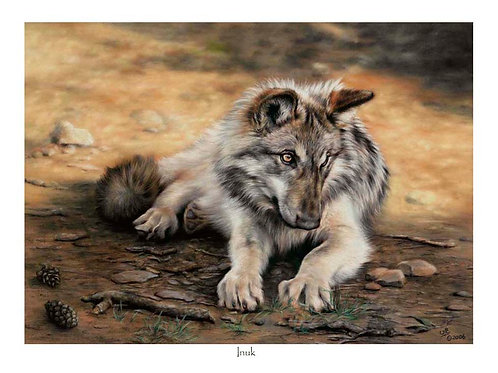 'INUK' LIMITED EDITION WOLF PRINT