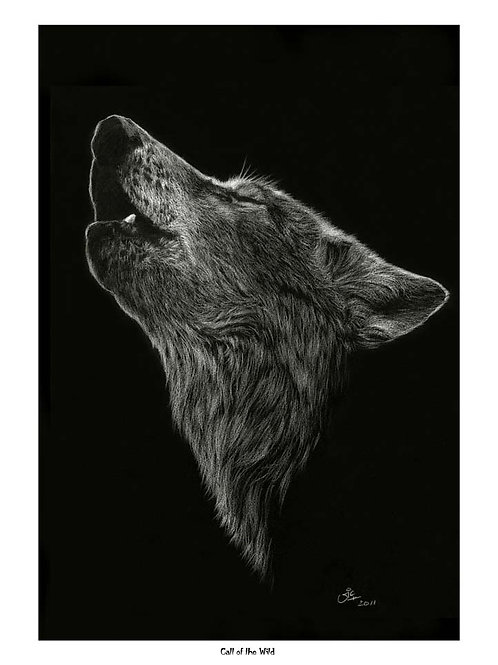 'CALL OF THE WILD' OPEN EDITION WOLF PRINT