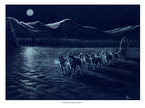 'CHASING THE DREAM' LIMITED EDITION HUSKY PRINT