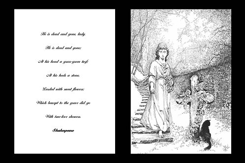 'BEWEPT TO THE GRAVE' MOUNTED OPEN EDITION PRINT AND ACCOMPANYING VERSE