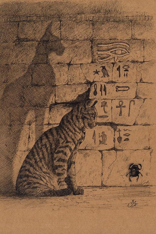 'Kit-ten-Katmun' Original Sketch