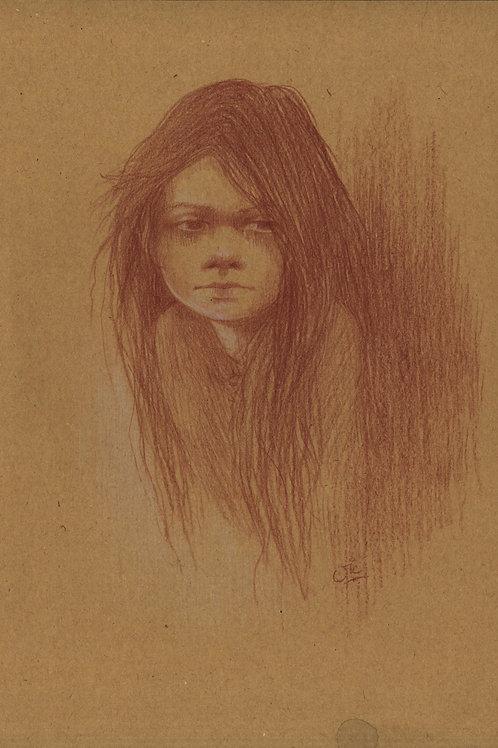 'The Little Match Girl' Original Sketch