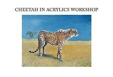 Cheetah in Acrylics Workshop Kit