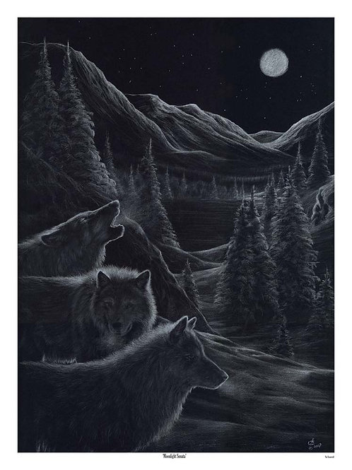 'MOONLIGHT SONATA' LIMITED EDITION WOLF PRINT