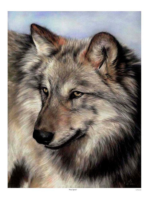 'FREE SPIRIT' LIMITED EDITION WOLF PRINT