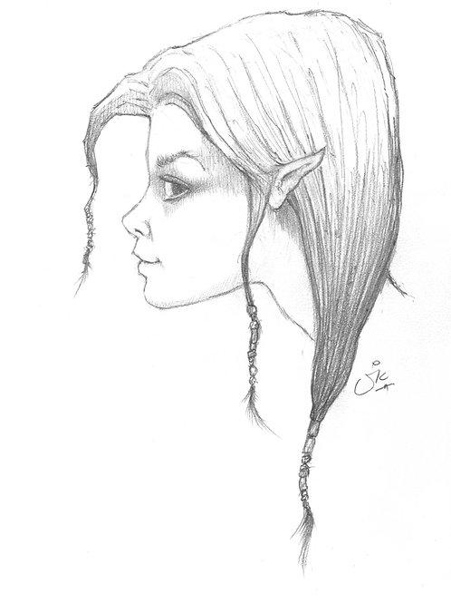 Ethnic Fairy Original Sketch