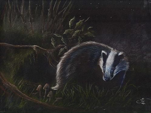 'Night Stalker' - Original Badger Painting