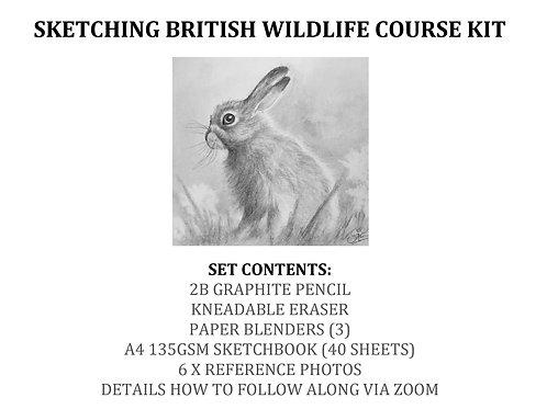 Sketching British Wildlife Course Kit
