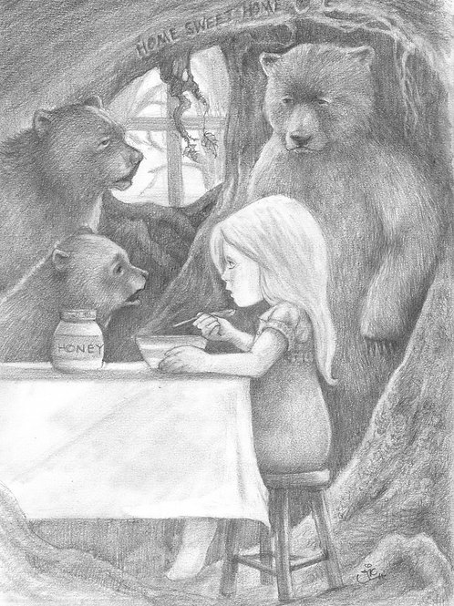 'Goldilocks' Original Drawing