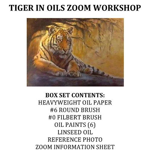 Tiger in Oils Workshop Kit (With brushes)