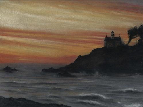 California Sunset Original Pastel Painting