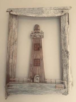 Driftwood Lighthouse Frame