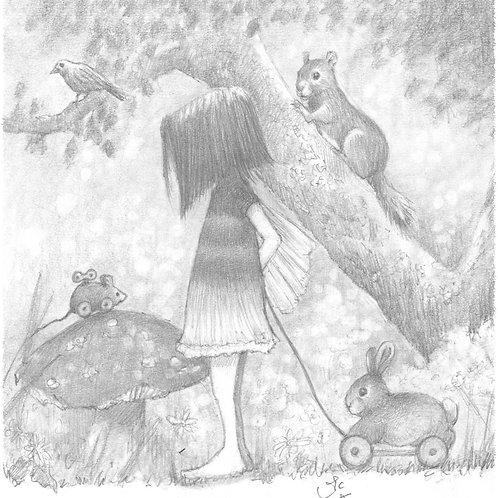 'The Mouse Ran Down' Original Sketch