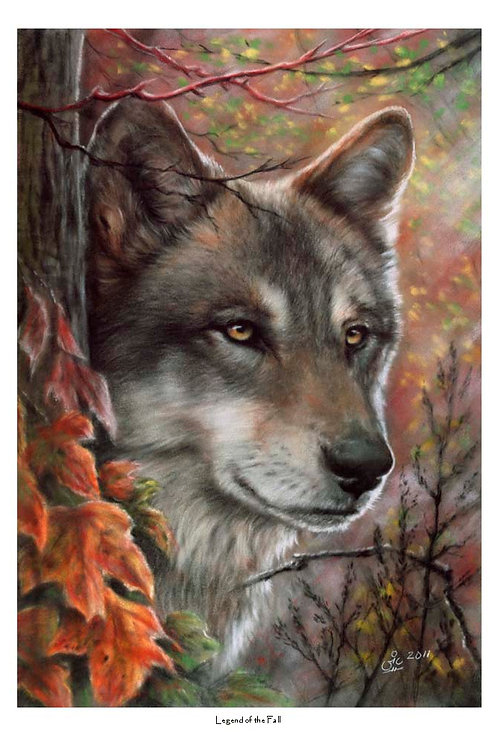 'LEGEND OF THE FALL' LIMITED EDITION WOLF PRINT