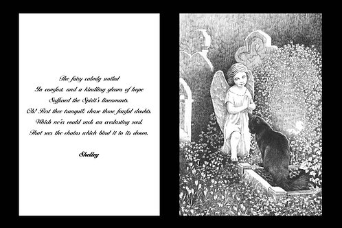 'THE FAIRY' MOUNTED OPEN EDITION PRINT AND ACCOMPANYING VERSE