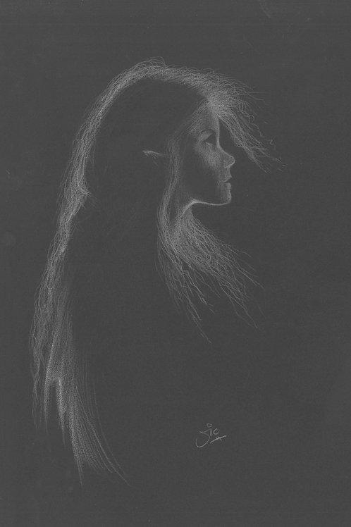 'Ill Met by Moonlight' Original Drawing