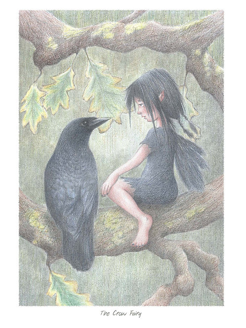 'The Crow Fairy' Open Edition Print