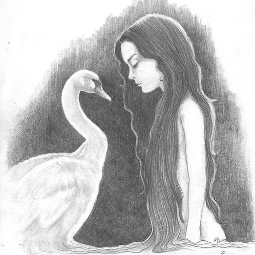 'Leda and the Swan' Original Sketch