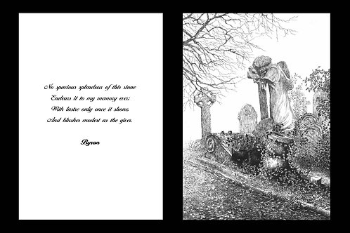 'THE STONE' MOUNTED OPEN EDITION PRINT AND ACCOMPANYING VERSE
