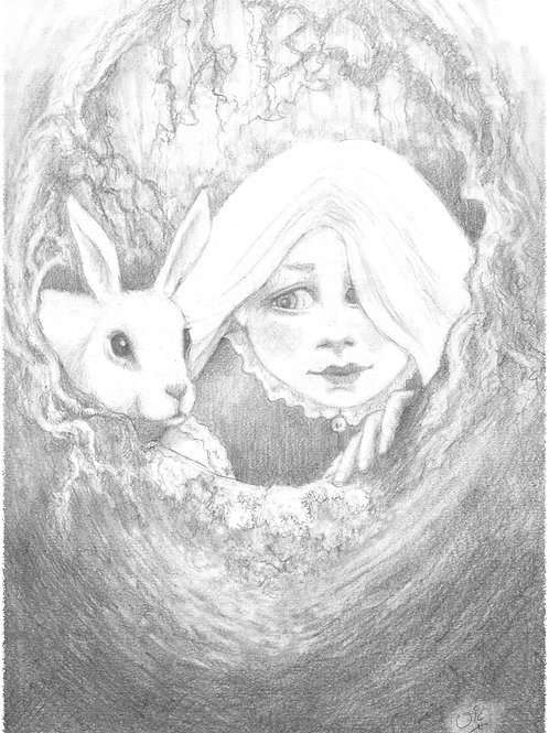 'Down the Rabbit Hole' Original Sketch